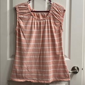 Peach and white striped T-shirt